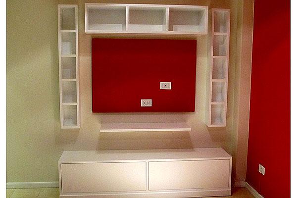 Fabrica Muebles para LCD living zona oeste norte dvd madera laqueada